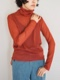 "amiu.c / Sheer turtle neck long sleeve ""RED"""