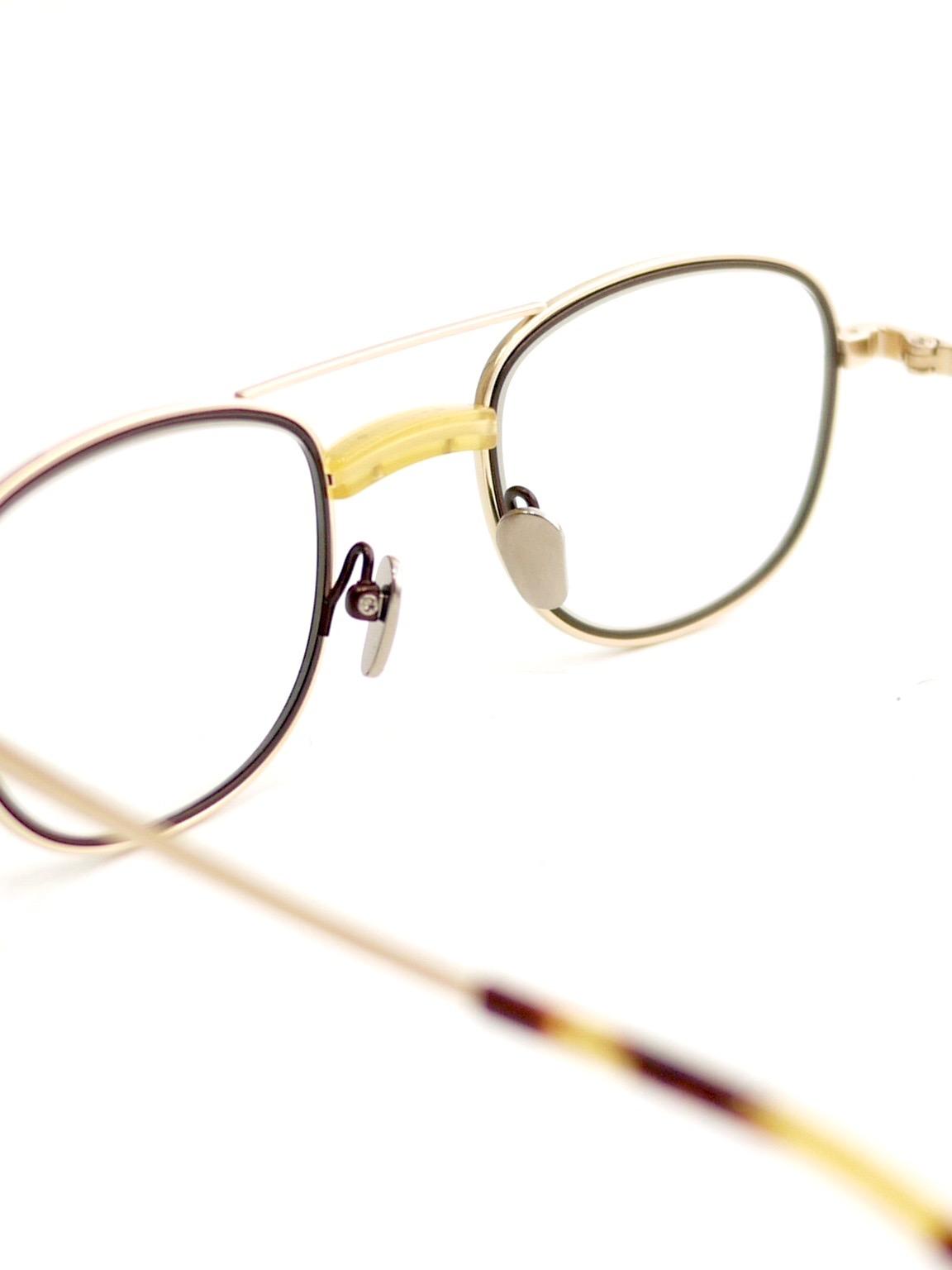 "kearny / james ""yellow×gold""  (clear lens)"