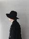 "KIJIMA TAKAYUKI / Wide Brim Soft hat ""BLACK"""