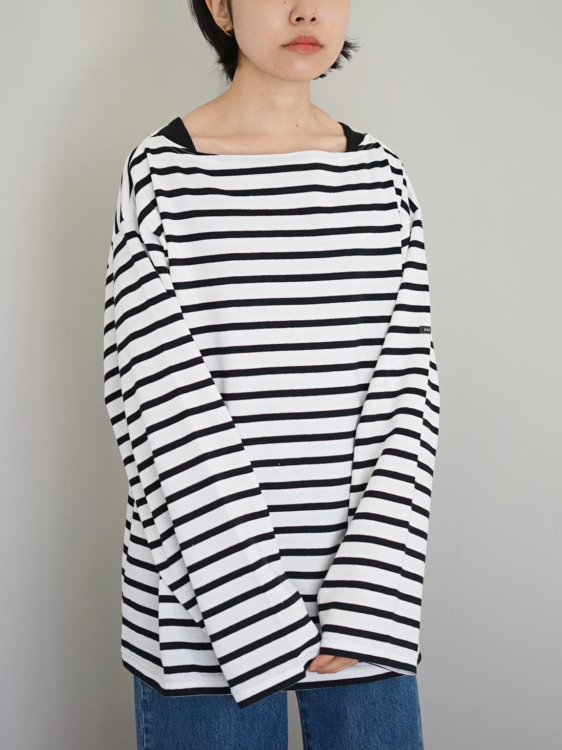 """OUTIL / TRICOT AAST """"WHITE-BLACK"""""""