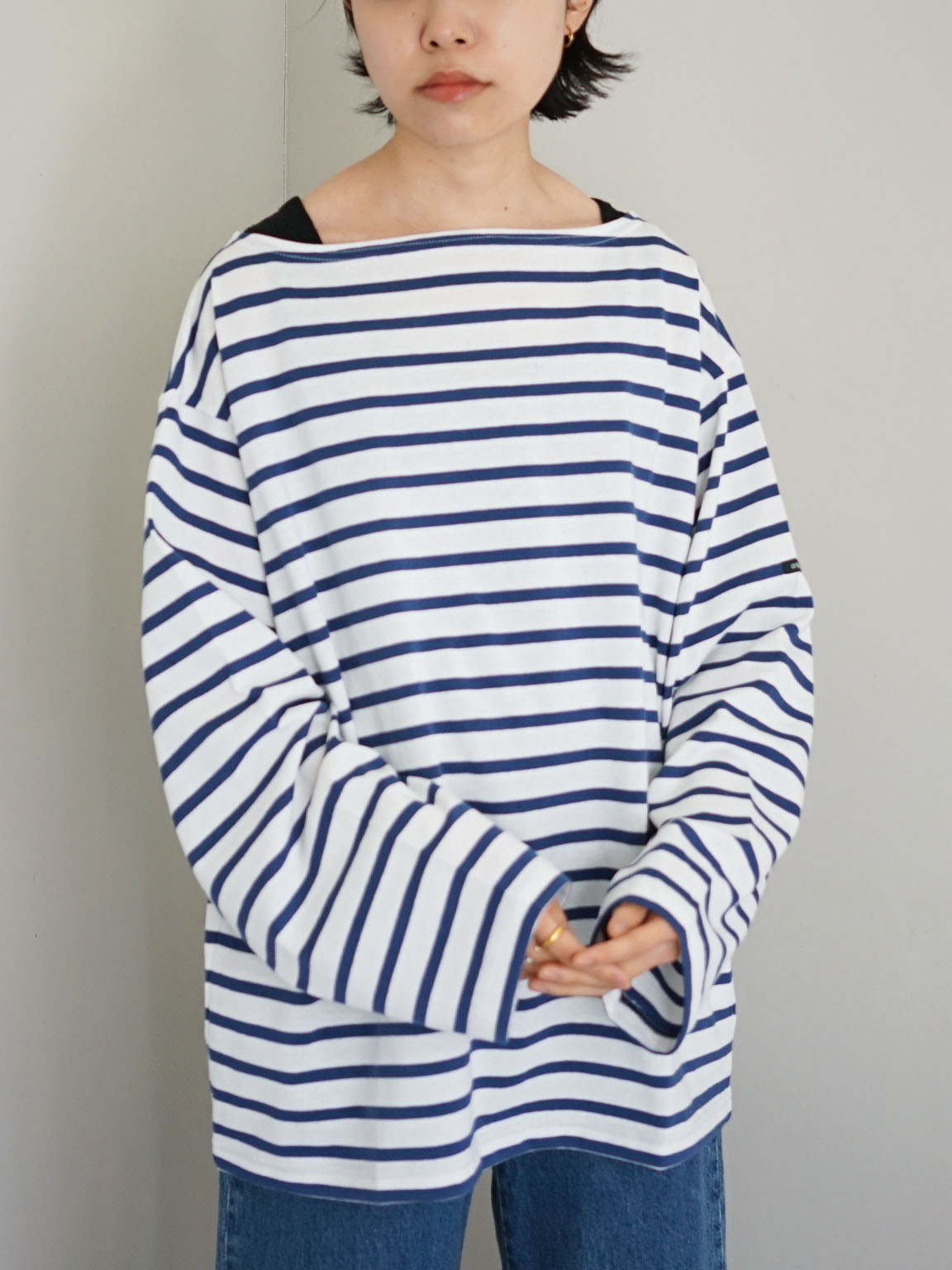 """OUTIL / TRICOT AAST """"WHITE-NAVY"""""""