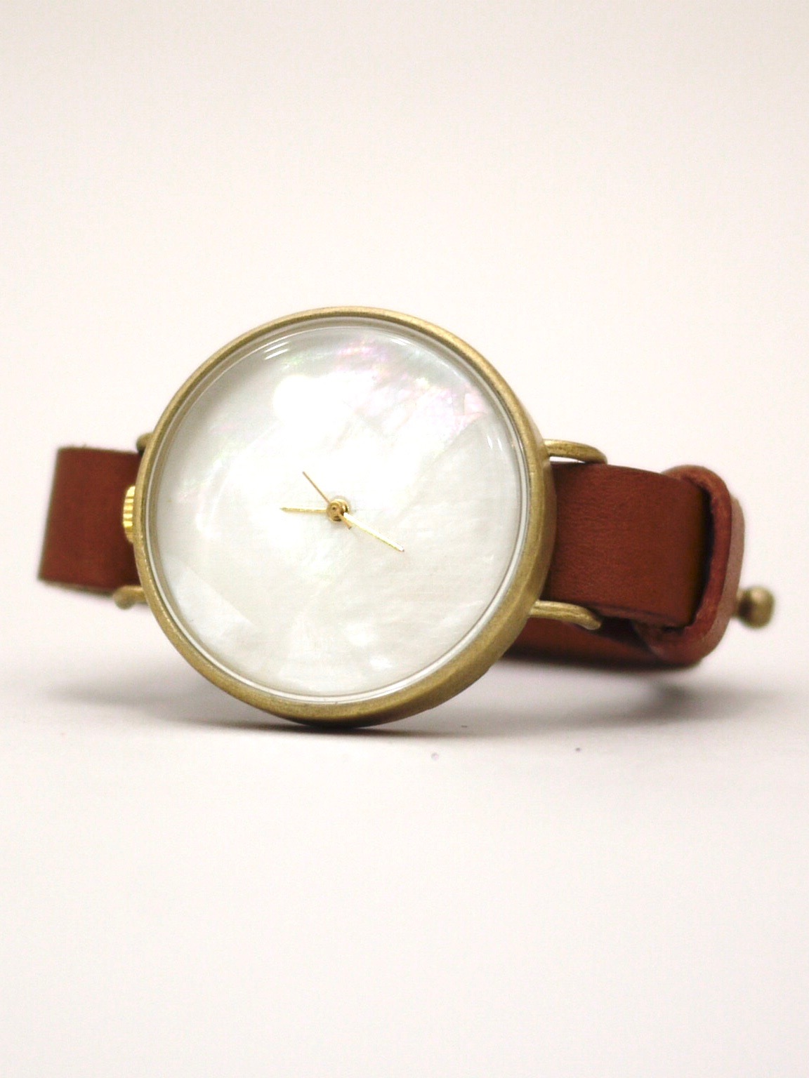 "nejicommu / watch ""AROUND SHELL"" BROWN"