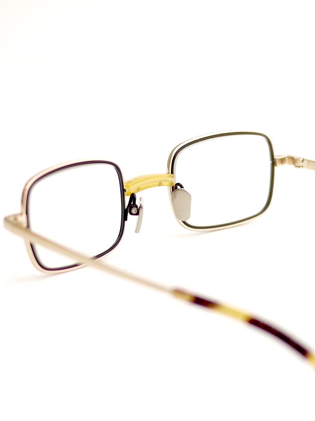 "kearny / bill ""yellow×gold""  (clear lens)"