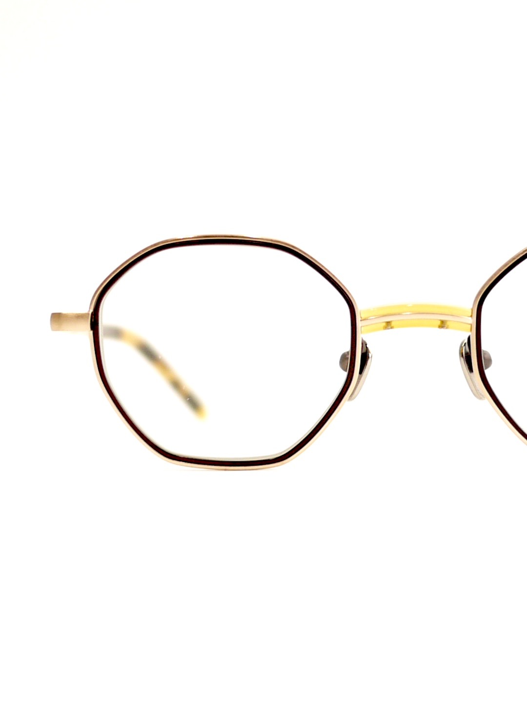 "kearny / charlie ""yellow×gold""  (clear lens)"