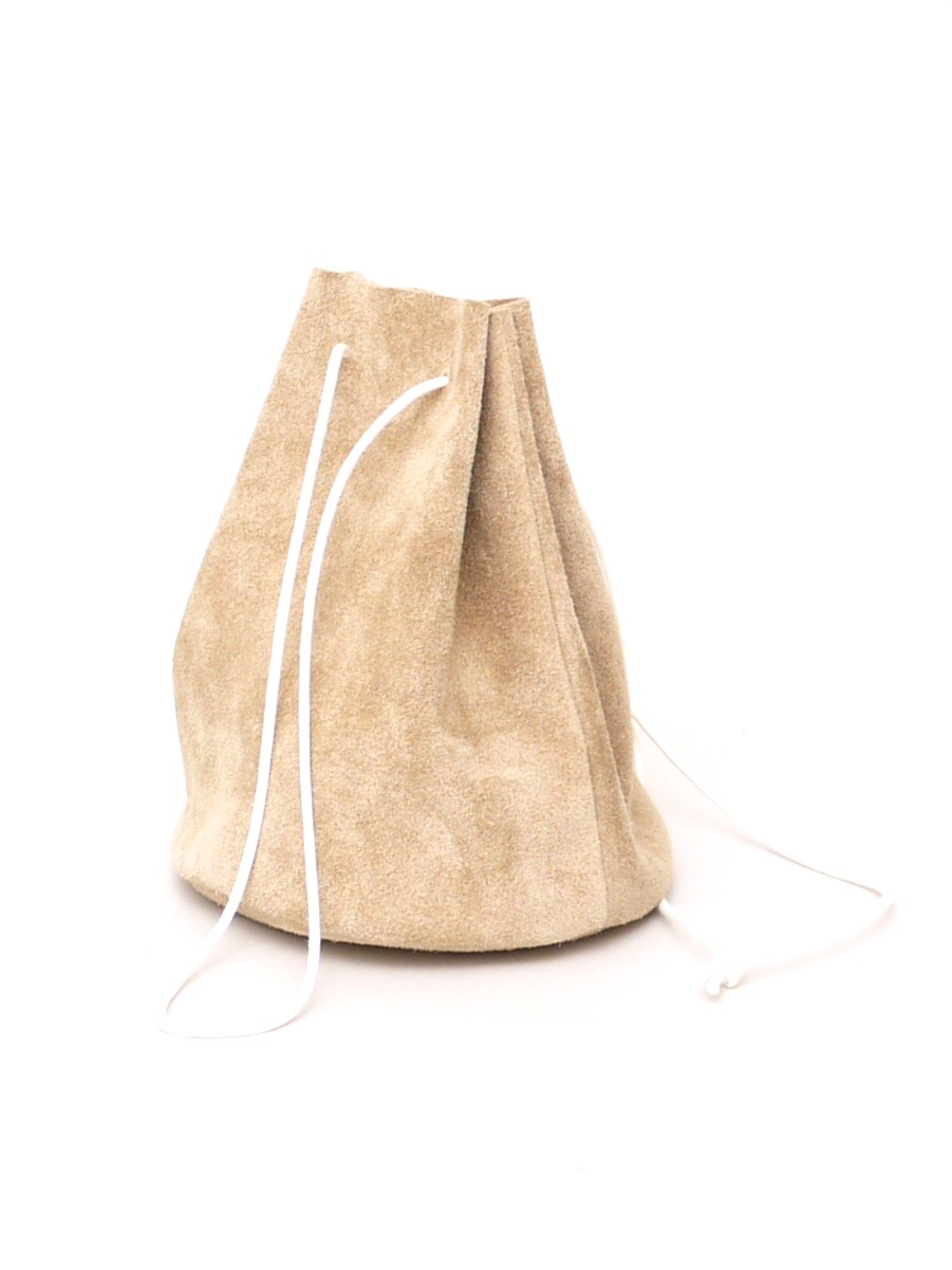 """REEL / suede drawstring bag """"beige"""""""