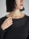 """amiu.c / Gauze waffle long sleeve """"BLACK"""""""