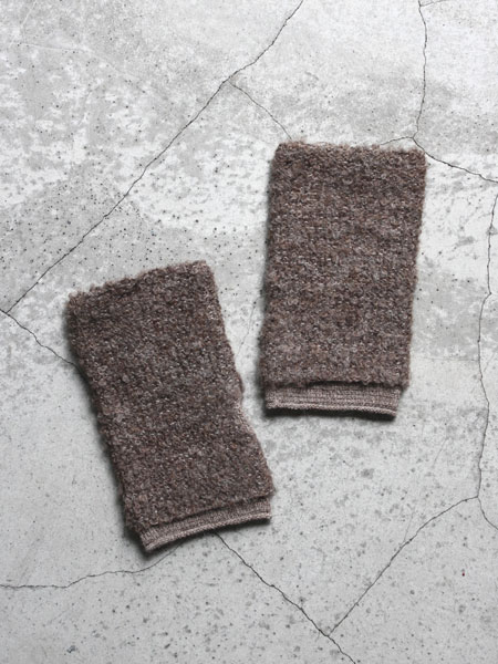 "Lino e Lina / ALPACA HAND WARMER1 ""Brown"""