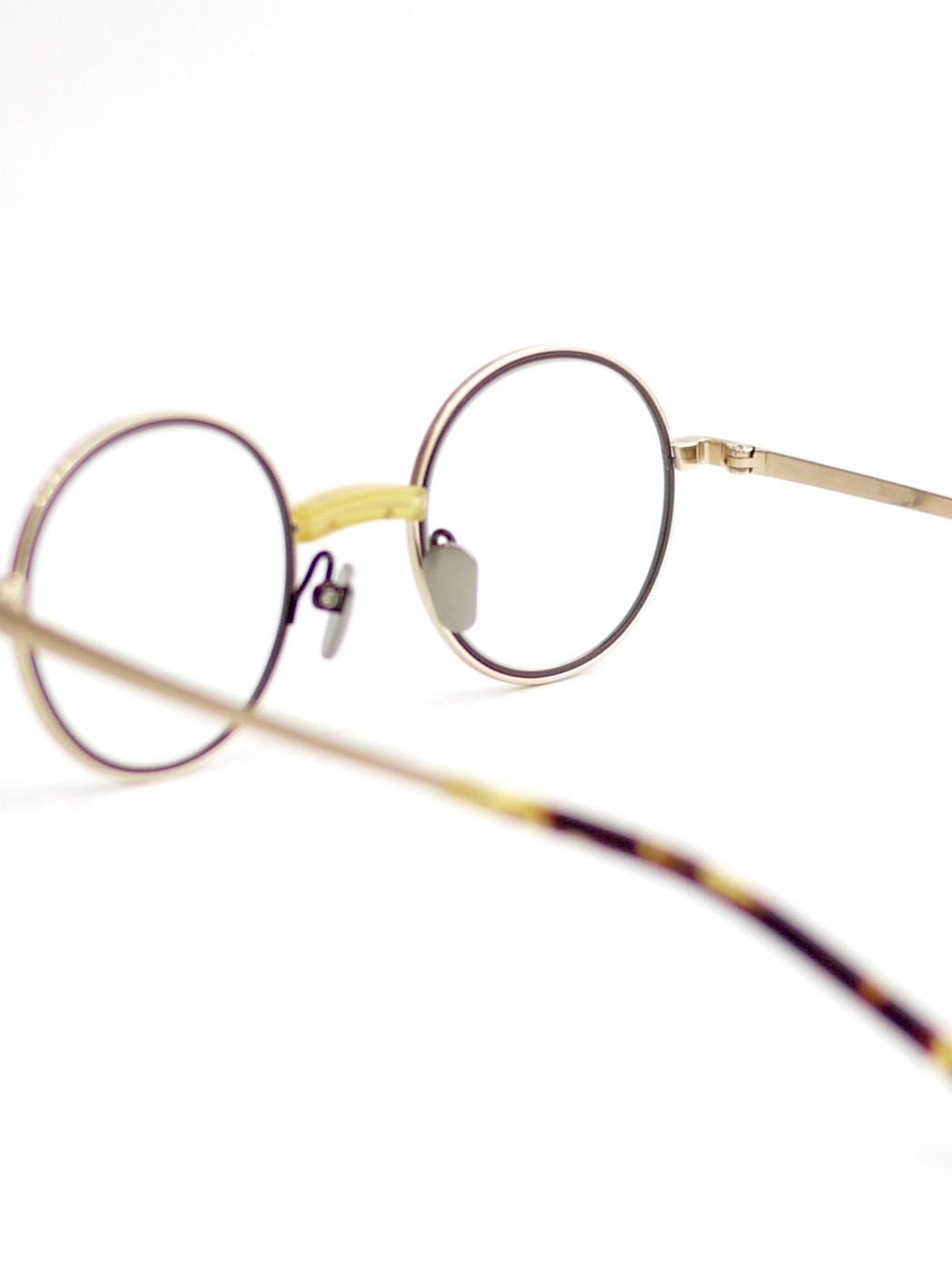 "kearny / steve ""yellow×gold""  (clear lens)"