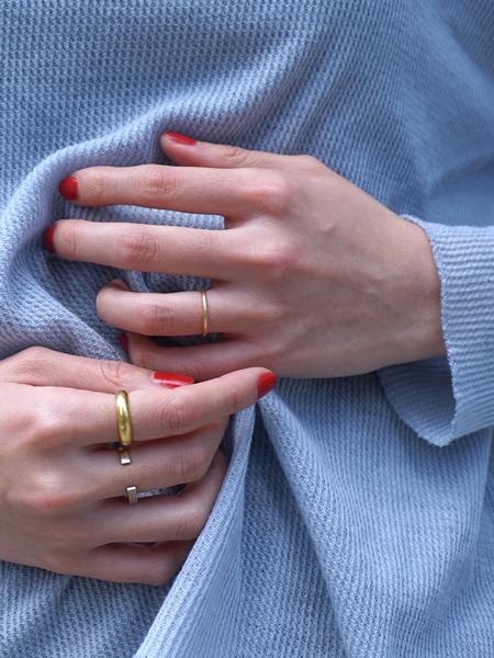 "amiu.c / Gauze waffle long sleeve ""BLUE GRAY"""