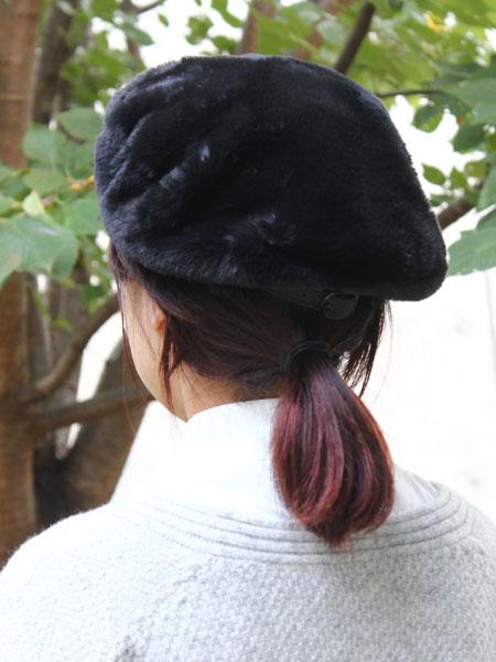 "KIJIMA TAKAYUKI / far beret ""BLACK"""