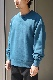 """ULTERIOR / SUVIN COTTON BULKY TERRY SWEAT SHIRT """"TEAL GREEN"""""""