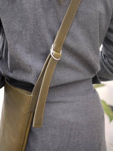 """stanyan / softleather shoulder bag """"olive"""""""