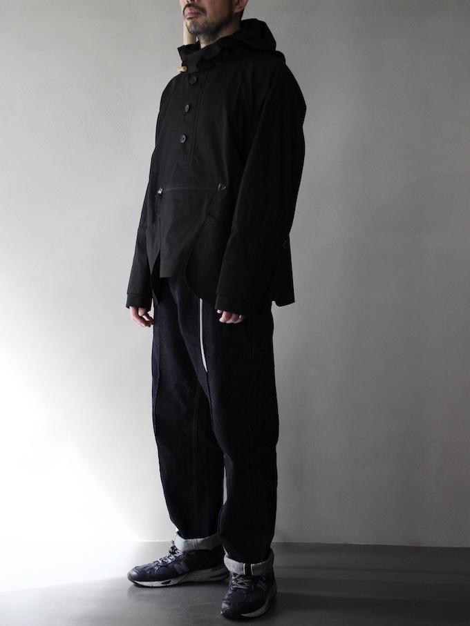 """ASEEDONCLOUD / Bag Hoodie silky typewriter cloth """"Black"""""""