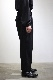stein/WIDE TAPERED TROUSERS BLACK