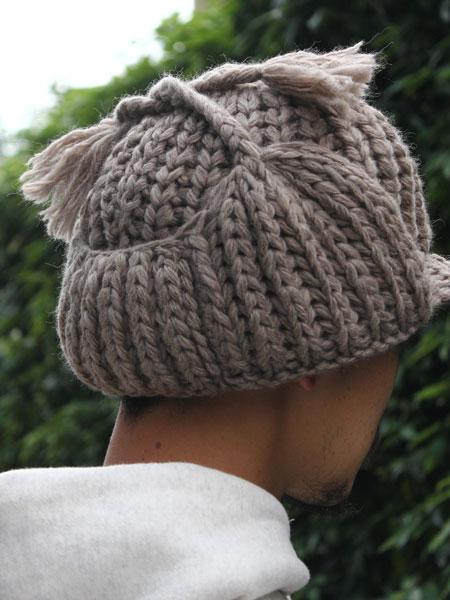"""KIJIMA TAKAYUKI / knitnewsboy knit cap  """"BEIGE"""""""