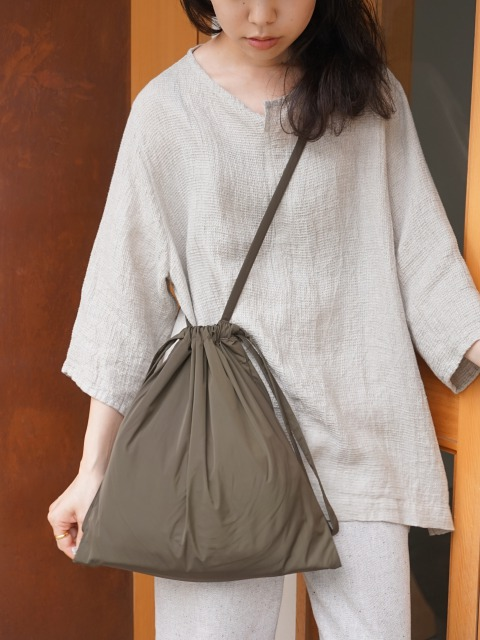 formuniform / drawstring bag S with strap KHAKI