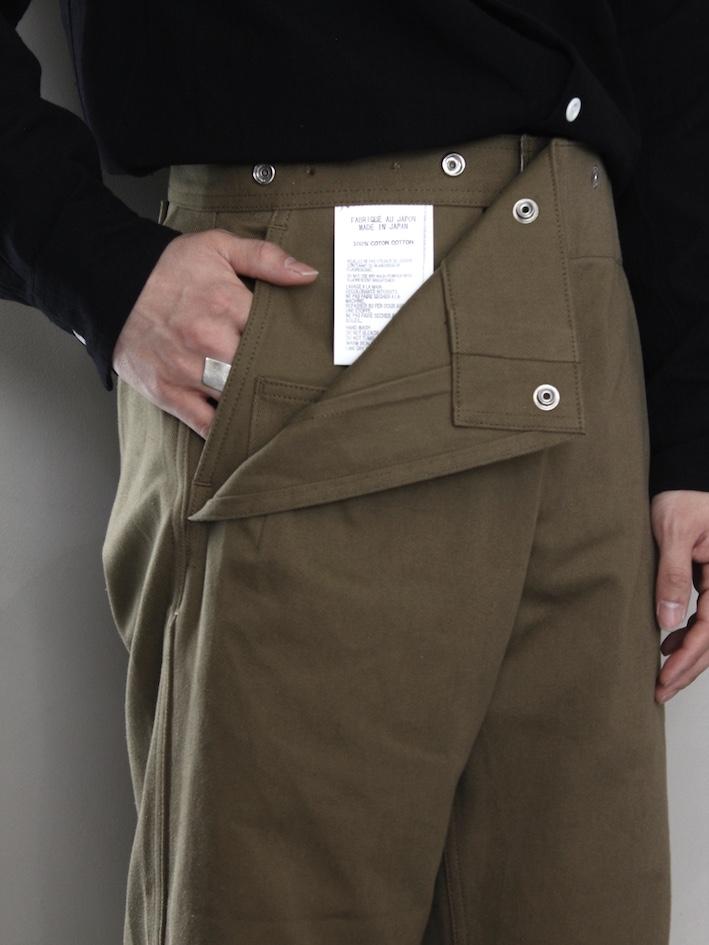 """TUKI /snap pants """"olive"""""""