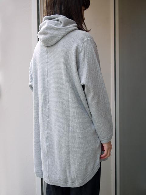 "FIRMUM / cotton hoodie ""LIGHT GRAY TOP"""