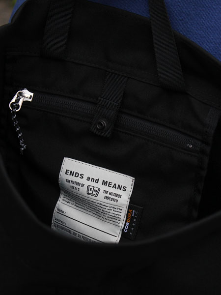"ENDSandMEANS / Sholder Bag ""Black"""