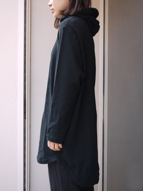 "FIRMUM / cotton hoodie ""BLACK"""