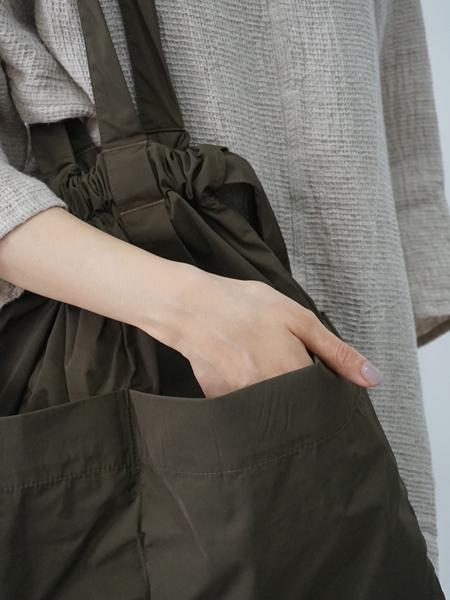 formuniform / drawstring tote bag KHAKI