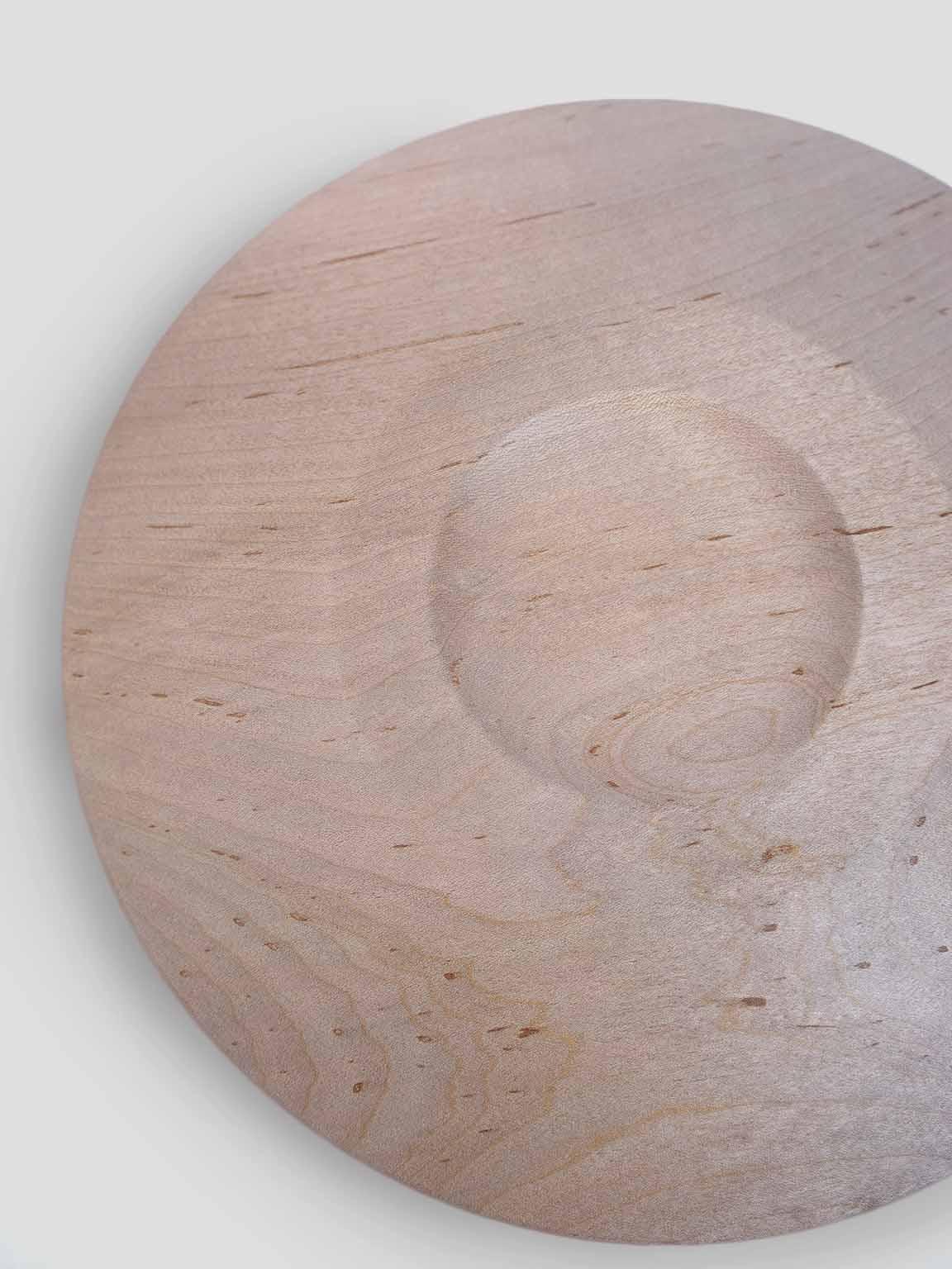 【販売開始 5/29(土)12:00〜】内田 悠 / 平皿� イタヤカエデ(鉄媒染) - Φ240