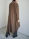 "amiu.c / Back gathered shirt dress ""BROWN"""