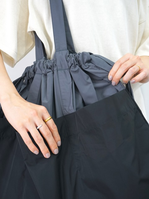 formuniform / drawstring bag L GRAY×BLACK