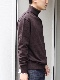 """PETER GEESON /Classic Fit  Mock Neck """"BROWN"""""""