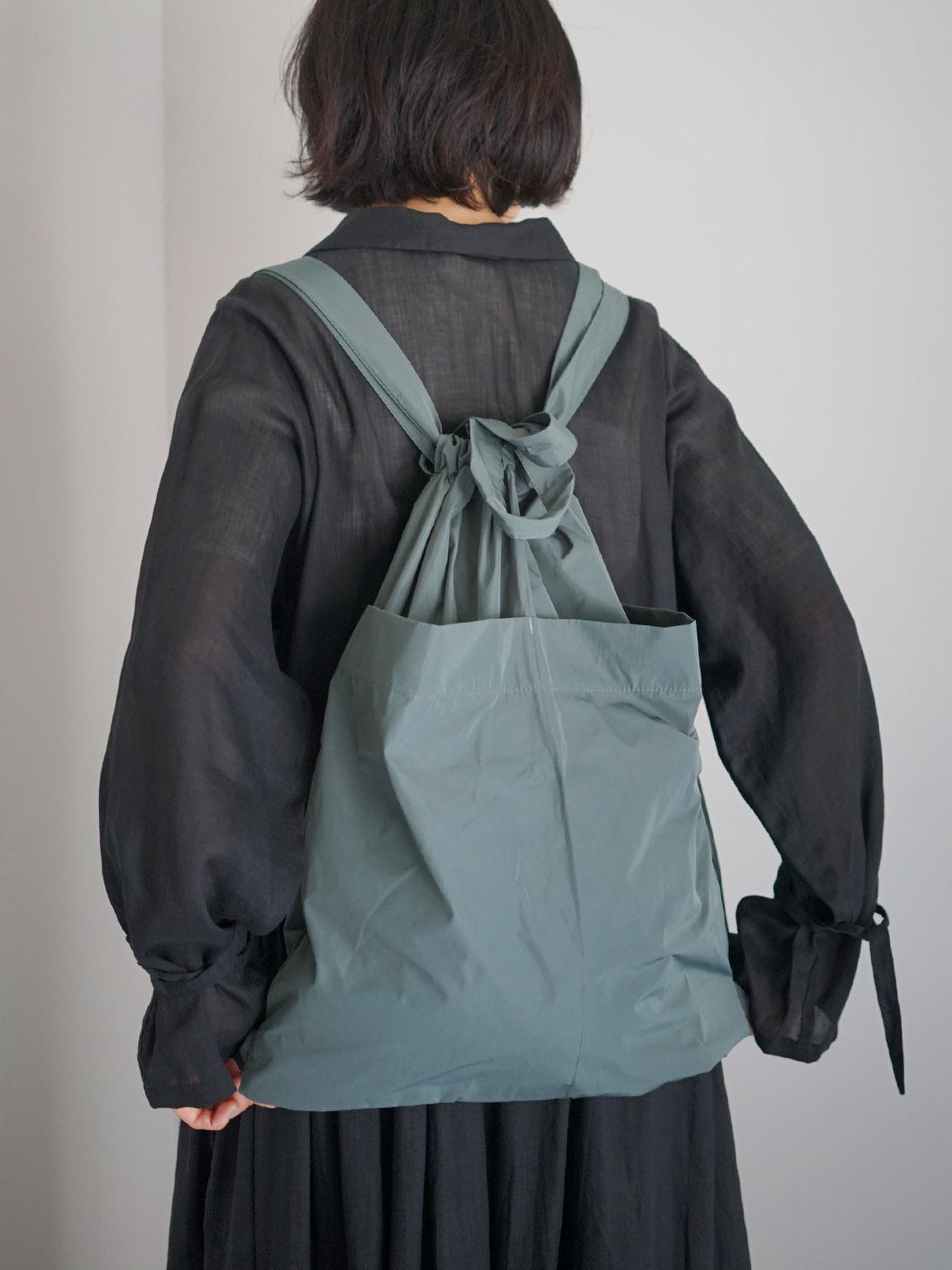 "formuniform / drawstring back pack ""seafoam"""