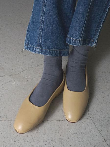 "WANDERUNG / flat shoes ""beige"""