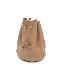 "REEL / mini drawstring bag ""beige"""