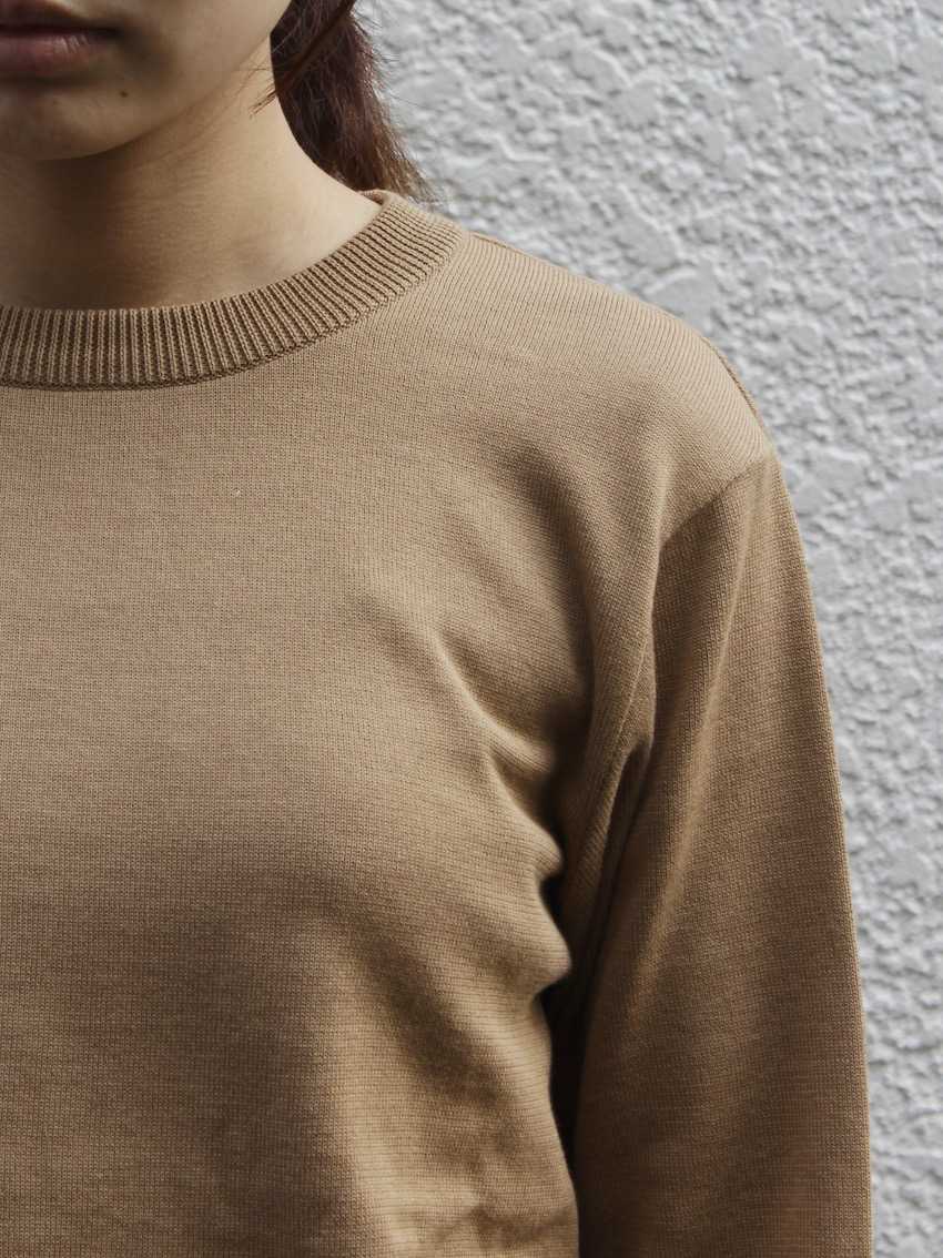 FUJITO /  L/S Knit Tee Camel