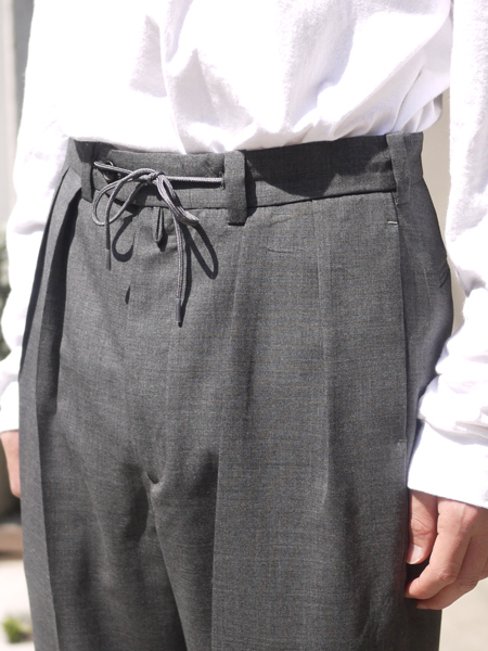 "ENDS and MEANS / Wool slacks ""GRAY"""