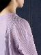 """amiu.c / Gauze waffle long sleeve """"LAVENDER"""""""