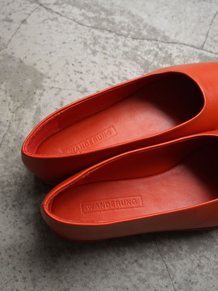 "WANDERUNG / flat shoes ""orange"""