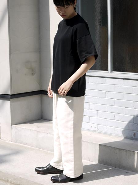 """TORICI / アイスビックTセーター(ユニセックス) """"BLACK"""""""