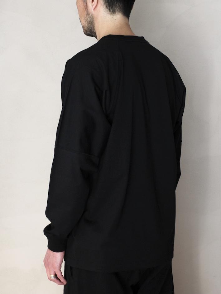 "ULTERIOR / SUVIN COTTON L/S POCKET T  ""black"""