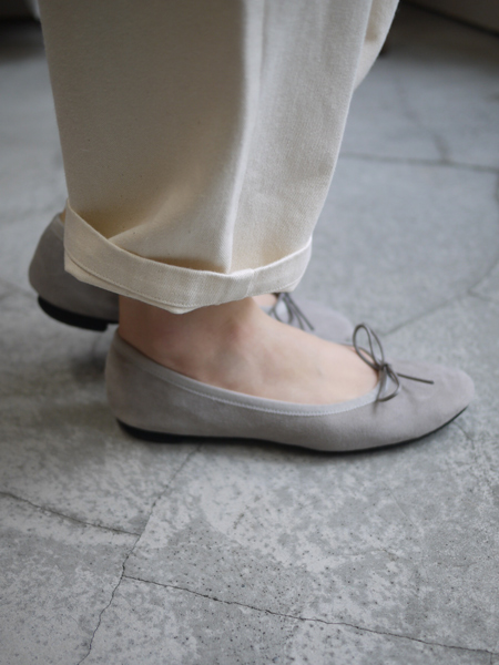 """TRAVEL SHOES by chausser / Ballet shoes """"GRAY"""""""