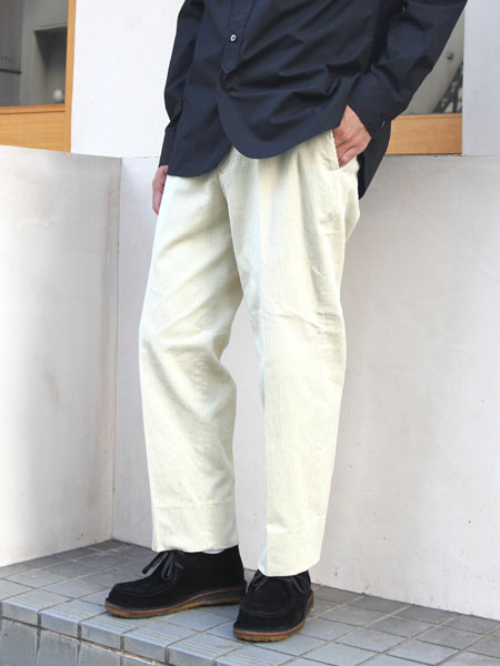 "ENDS and MEANS / Grandpa Cord Trousers ""ivory"""