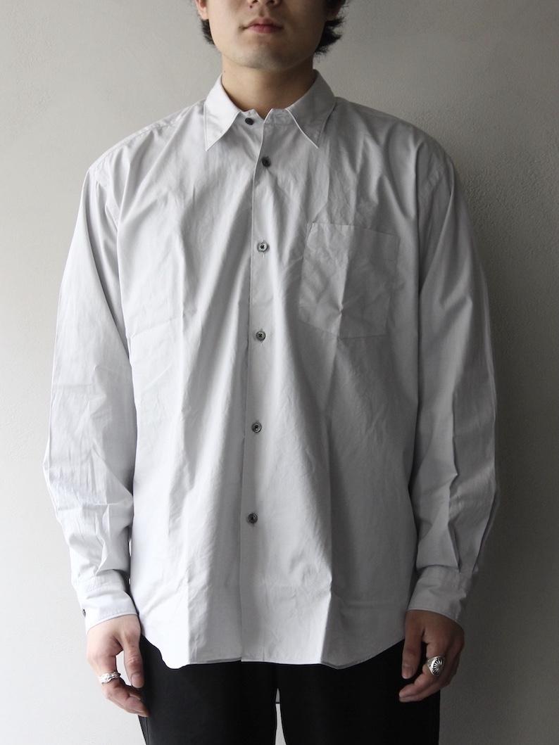 "FUJITO  /  ビッグシルエットシャツ ""Silver Gray"""