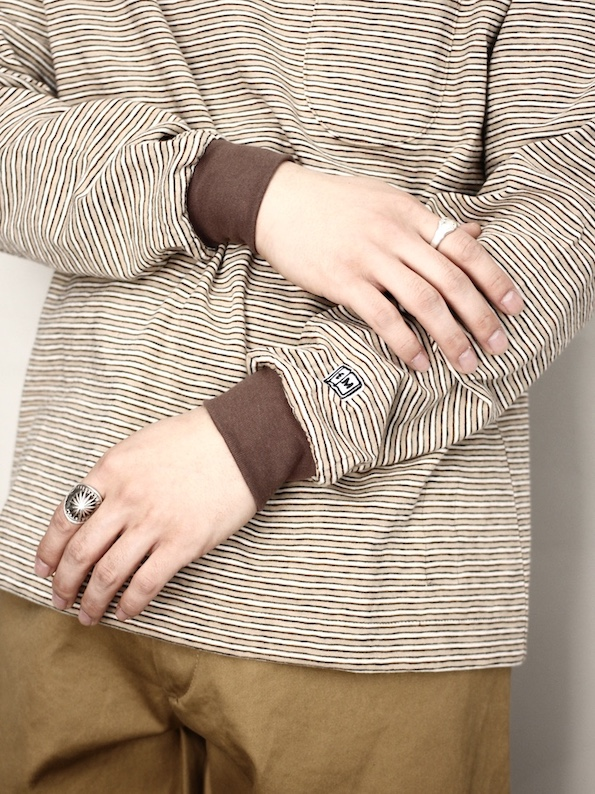 ENDS and MEANS / Pocket Long Sleeve Tee  Brown BD