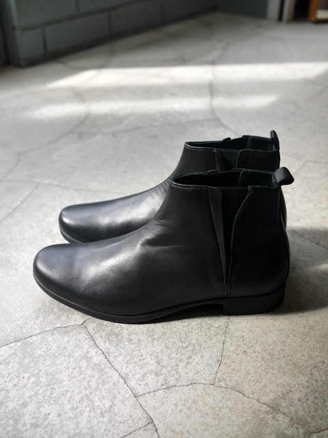 "TRAVEL SHOES by chausser / Side gore boots ""BLACK"""
