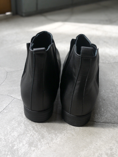 """TRAVEL SHOES by chausser / Side gore boots """"BLACK"""""""
