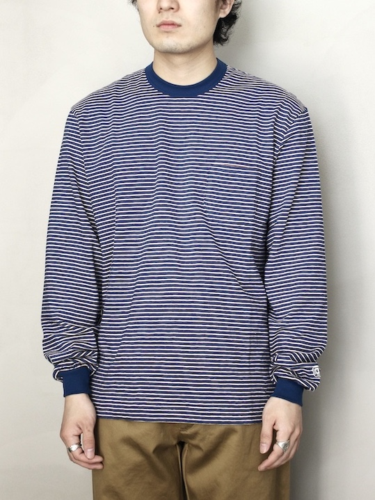 ENDS and MEANS / Pocket Long Sleeve Tee  Blue BD