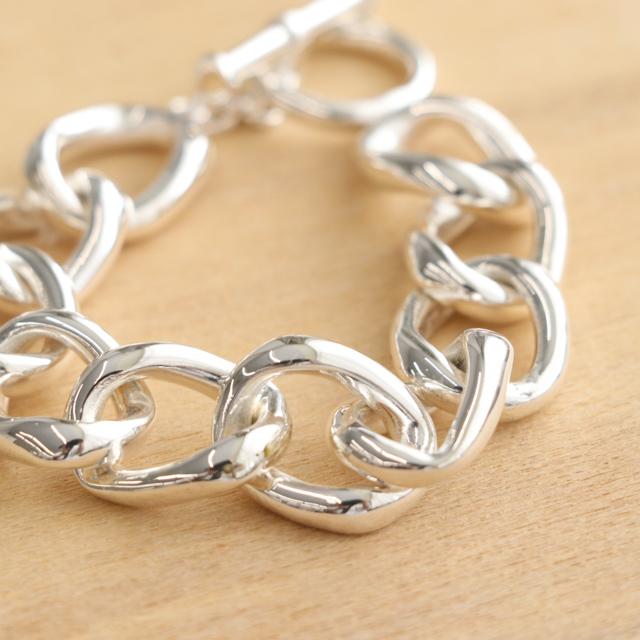 H/アッシュ Silver Chain bracelet