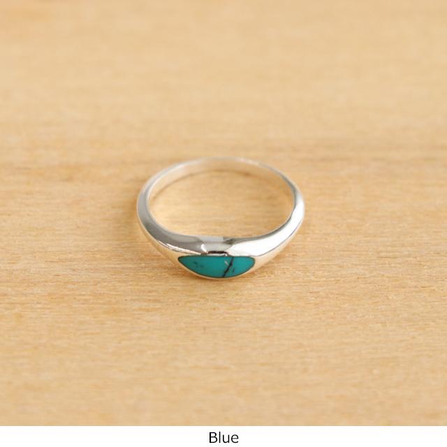 H/アッシュ Silver Enamel Ring
