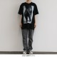 THE INTERNATIONAL IMAGES COLLECTION 40/2 T-SHIRT / HEEL - Black