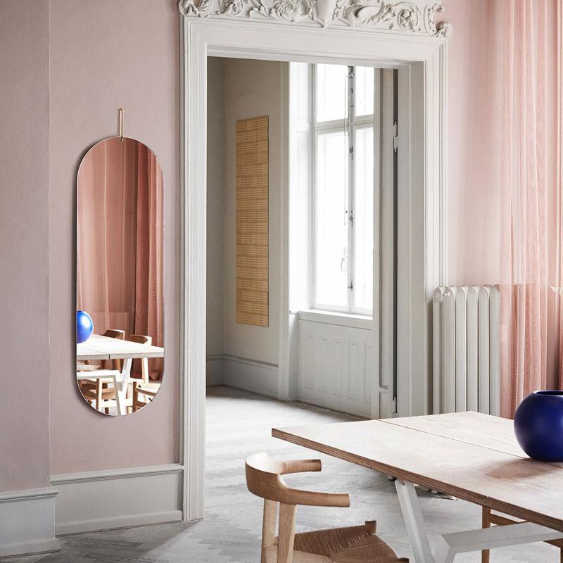 Tall Wall Mirror(トールウォールミラー)W44×H147cm 真鍮(ブラス) 壁掛けミラー MOEBE(ムーベ) デンマーク