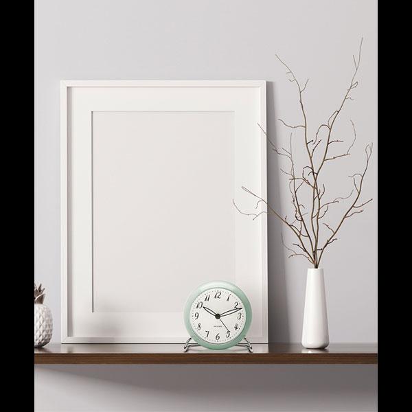 ARNE JACOBSEN TableClock LK 限定カラー アイスブルー アルネヤコブセン・テーブルクロック・エルケー 置き時計 ROSENDAHL COPENHAGEN (ローゼンダール社 コペンハーゲン)